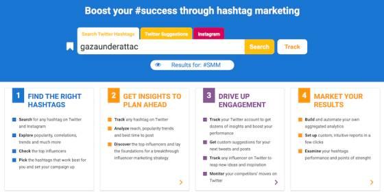 ادوات هاشتاق اشهر الهاشتاقات Hashtagify_